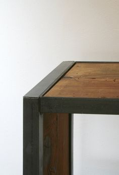 island barn case - modern industrial bookcase etagere shelving from high recycled content steel and reclaimed wood