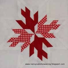 ~ free pattern ~ Doves in the Window paper pieced quilt block by Candace Moore | Nancy Cabot Sew Along