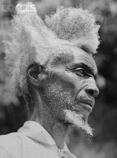Amasunza Man with traditional hairstyle.
