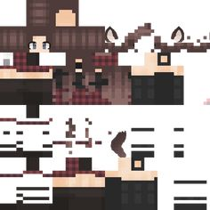 Minecraft Mädchen Skins, Minecraft Skins Female, Minecraft Wolf, Minecraft Skins Aesthetic, Easy Minecraft Houses, Mine Minecraft, Minecraft Projects, Creeper Minecraft, Minecraft Tips