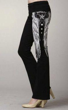 Amazon.com: Fashion Forever Black Royalty Stones Tattoo Yoga Pants Leggings Junior Black: Clothing