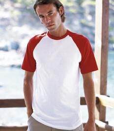 7856dec5e5c Fruit of the Loom Contrast Baseball T-Shirt Baseball T