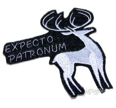 Harry Potter Silver Stag Patronus Expecto Patronum Iron On Patch $8