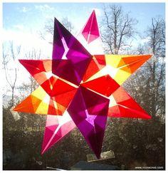 Kite Paper/Tissue paper Window Stars