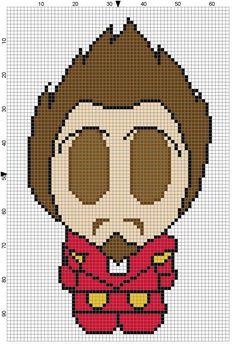 Tony Stark (Weenie) Cross Stitch Pattern - Professional Pattern Designer and Artist Collaboration