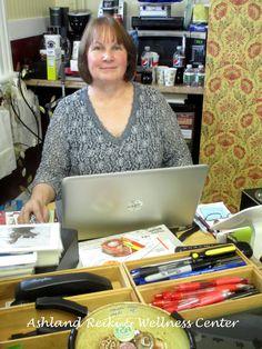 Hannah Stein in her shop, Ashland Reiki and Wellness Center