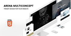 ARENA — Multiconcept #HTML5 Template by NetGon | ThemeForest