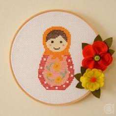 matryoshka   russian doll   babuska hoop art