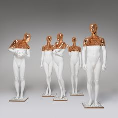 Explore our unique Paris White Copper collection. Get that luxurious look with these mannequins perfect for showing high fashion. Check our collection. Concours Design, Sculpture Art, Sculptures, Mannequin Art, 3d Wall Art, Character Design Animation, Home Room Design, Gold Art, Gold Fashion