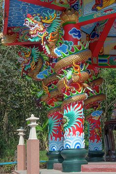 Wat Pa Neramit Mae Taeng Chinese Shrine Dragon Pillars by Gerry Gantt Thailand Photos, Asian Architecture, Bruno Mars, Chiang Mai, Fantastic Beasts, Office Decor, Fine Art America, Dragons, Great Gifts