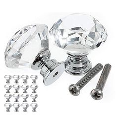 Brilliant Dreld 1pc 51*39*37mm Diamond Crystal Glass Knobs Furniture Handles Cabinet Knobs And Handles Kitchen Drawer Wardrobe Door Pulls Hardware
