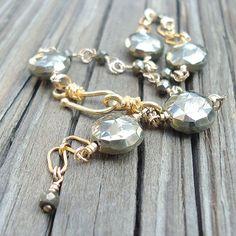 Pyrite Bracelet Pyrite Jewelry Handmade by jewelrybycarmal on Etsy, $75.00  Victoria's style