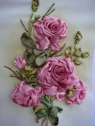 silk ribbon embroidery flowers - Buscar con Google