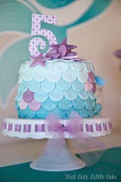 Chloe's Mermaid Party | That Cute Little Cake Mermaid Birthday Cake