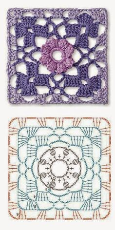 Transcendent Crochet a Solid Granny Square Ideas. Inconceivable Crochet a Solid Granny Square Ideas. Motifs Granny Square, Crochet Motifs, Granny Square Crochet Pattern, Crochet Blocks, Crochet Diagram, Crochet Chart, Crochet Squares, Granny Squares, Crochet Stitches