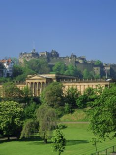 Edinburgh Castle and National Gallery, Edinburgh, Scotland