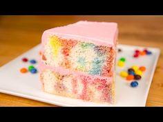 Skittles Poke Cake w/ Skittles Buttercream (My Cupcake Addiction Collab) - YouTube