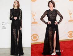 Lena Headey In Alessandra Rich – 2013 Emmy Awards
