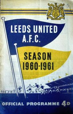 Leeds United v Everton 1960-61 match programme, friendly match
