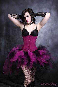 Fuchsia Hot Pink and Black trashy bustle TuTu by mtcoffinz on Etsy, $50.00