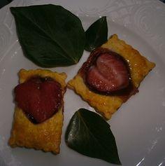 galletas de nutella y mermelada de fresa