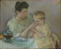 """Mother Feeding Child"" by Mary Cassatt (1898) at the Metropolitan Museum of Art, New York"