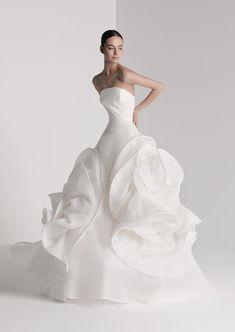Antonio Riva 2020 Spring Bridal Collection - The FashionBrides Best Wedding Dresses, Bridal Dresses, Wedding Styles, Unique Wedding Gowns, Gown Wedding, Elegant Dresses, Pretty Dresses, Vintage Dresses, Festa Party