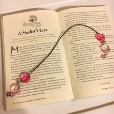 Bookmark fancy bookmark beaded bookmark flower bookmark