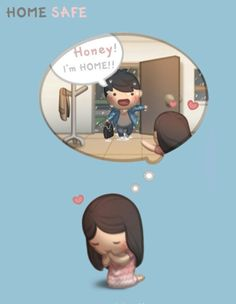 HJ-Story :: Home Safe - image giorni migliori arriveranno Hj Story, Cute Couple Cartoon, Cute Love Cartoons, Cute Cartoon, Cute Love Stories, Love Story, Love Is Sweet, What Is Love, Anime Chibi