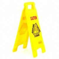 Newell Rubbermaid 6112 00 YEL Two-Sided Yellow Caution Floor Sign, 25