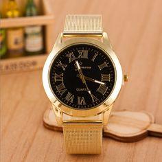 $2.45 (Buy here: https://alitems.com/g/1e8d114494ebda23ff8b16525dc3e8/?i=5&ulp=https%3A%2F%2Fwww.aliexpress.com%2Fitem%2FNew-Geneva-Men-Roman-Numerals-Quartz-Gold-Stainless-Steel-Wrist-Watch%2F32760035895.html ) 2016 Luxury Brand Geneva Watch Fashion Roman Numerals Quartz Watch For Men Women Gold Stainless Steel Wrist Watch relogio Clock for just $2.45