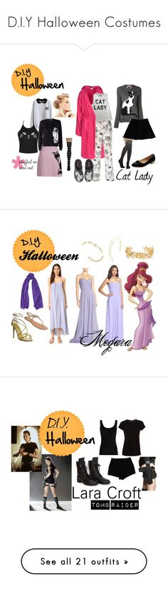 """D.I.Y Halloween Costumes"" by xctu ❤ liked on Polyvore featuring DIY, Halloween, costumes, DIYHalloween, MSGM, Leg Avenue, N°21, Max&Co., Arena and STELLA McCARTNEY"