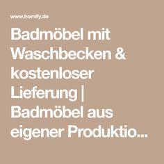 Badmöbel Mit Waschbecken U0026 Kostenloser Lieferung | Badmöbel Aus Eigener  Produktion Ohne Versandkosten