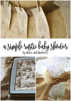 simple rustic baby shower with DIY and upcycled ideas {and freezer meals instead of gifts for the new mom}