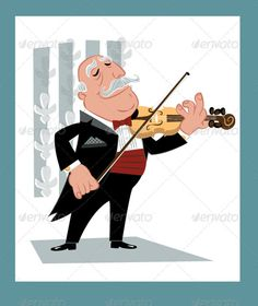 Violinist Playing his Violin Solo Music - People Characters