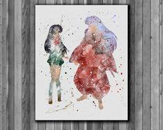 Inuyasha and Kagome Inuyasha poster  Art by digitalaquamarine