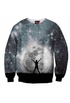 """$59 Moon motifs add energy and captivating fantasy to your clothing. Wear the """"Moon Look"""" to get lost in the galaxy and feel the desire for a space adventure. Show everyone what you have got! The """"Moon Look"""" is a temptation you cannot resist."""