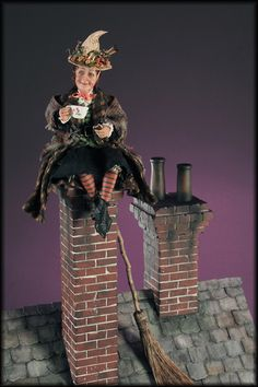 'High Tea' Witch...Miniature by  Creager Studios