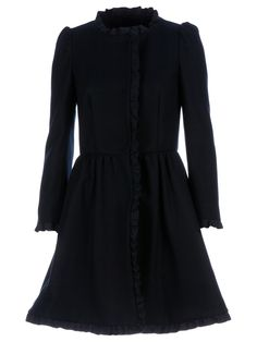 RED Valentino - Cinched Waist Coat | http://www.oliviapalermo.com/how-to-rock-the-coat/