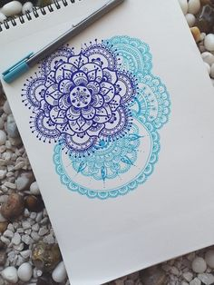 mandala, but black and red.. or white