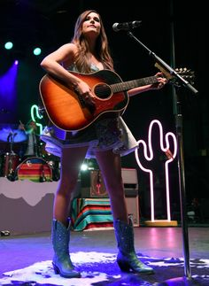 Where can we get those boots? Kacey Musgraves is country chic during a performance at the Life is Beautiful Festival on Oct. 26 in Las Vegas