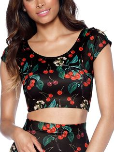 Wild Cherry Nana Suit Top - 48HR (WW ONLY $40AUD) by Black Milk Clothing