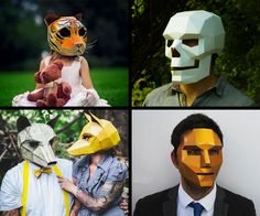 "If you've left costume planning for your Halloween, or Eyes Wide Shut, party to the 11th hour, Steve Wintercroft may have a downloadable solution for you. I say ""may"" because his nifty animal, skull, and humanoid masks are all DIY, sold as templates"