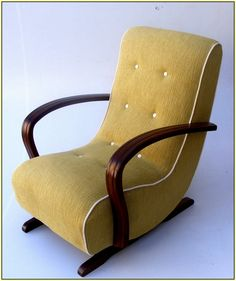 Coffee-cream-polyester-banana-rocker-chair-with-white-buttoned-backrest-also-wooden-armrest-and-base-leg.jpg 643×768 pixels