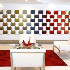 pannello decorativo a muro a rilievo in tessuto WOVIN WALL® OVERVIEW Wovin Wall