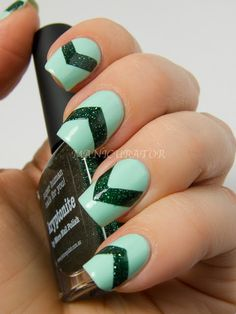 piCture pOlish Honeydew and Kryptonite Nail Art