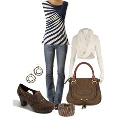 Love the Striped t-shirt, (created by marykate 2345)