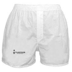 441574164cbc TUXEDOR Boxer Shorts on CafePress.com Blue Cross, Gold Cross, Geek Underwear ,
