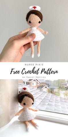 Doll Amigurumi Free Pattern, Crochet Dolls Free Patterns, Crochet Doll Pattern, Bear Patterns, Amigurumi Doll, Crochet Gifts, Cute Crochet, Pattern Cute, Amigurumi For Beginners
