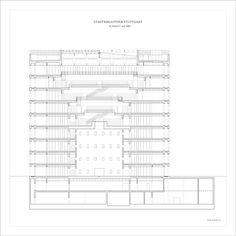 Image 7 of 11 from gallery of Stuttgart City Library / Yi Architects. section